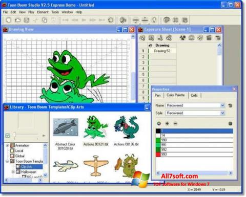 Skærmbillede Toon Boom Studio Windows 7