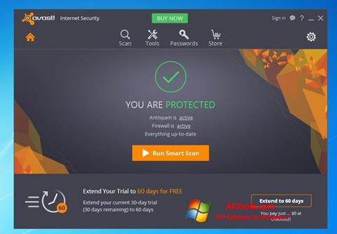Skærmbillede Avast Internet Security Windows 7