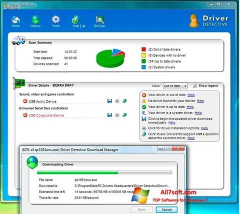 Skærmbillede Driver Detective Windows 7