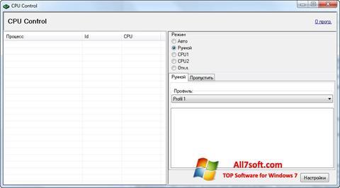 Skærmbillede CPU-Control Windows 7