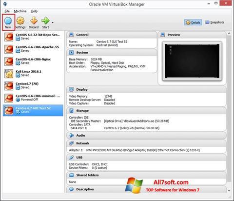 Skærmbillede VirtualBox Windows 7