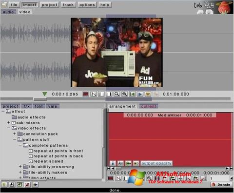 Skærmbillede ZS4 Video Editor Windows 7