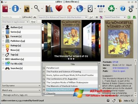 Skærmbillede Calibre Windows 7
