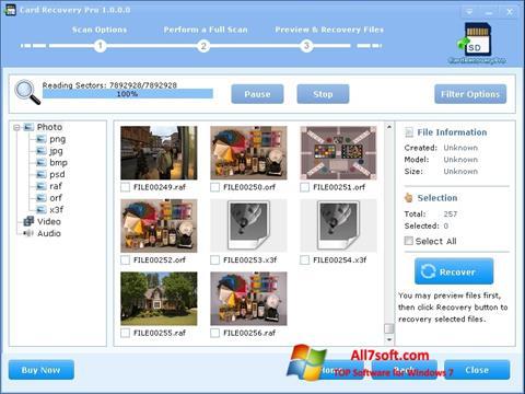 Skærmbillede CardRecovery Windows 7