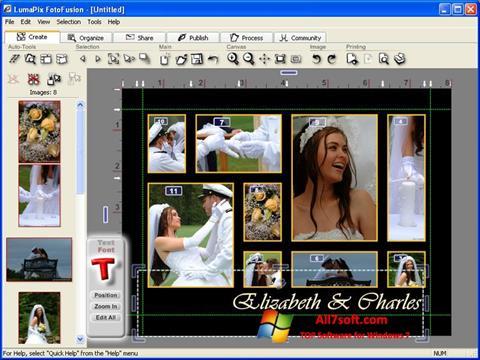 Skærmbillede FotoFusion Windows 7