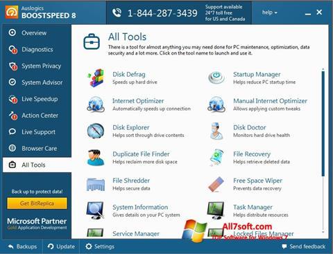 Skærmbillede Auslogics BoostSpeed Windows 7