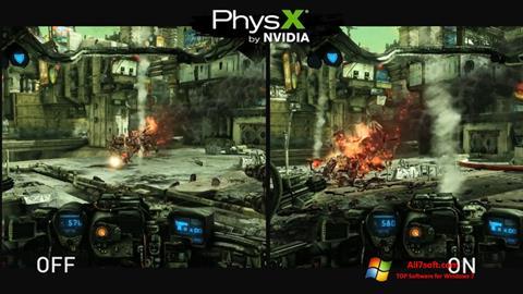 Skærmbillede NVIDIA PhysX Windows 7