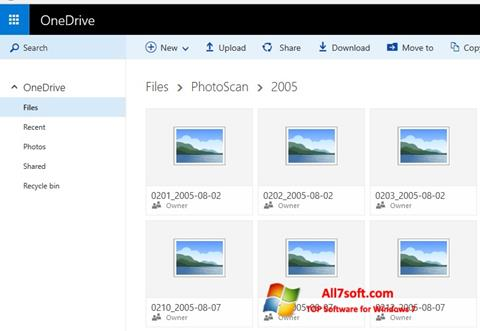 Skærmbillede OneDrive Windows 7