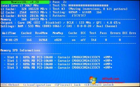 Skærmbillede MemTest Windows 7