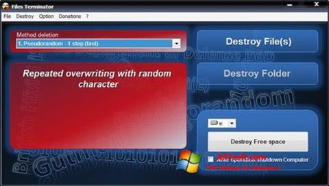 Skærmbillede Files Terminator Windows 7