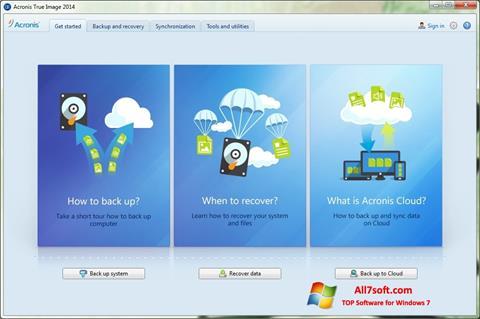 Skærmbillede Acronis True Image Windows 7