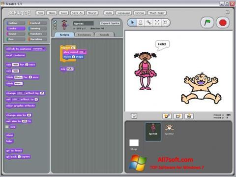Skærmbillede Scratch Windows 7