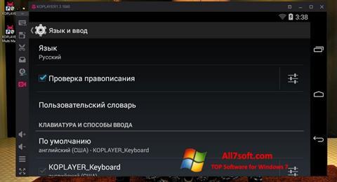 Skærmbillede KOPLAYER Windows 7