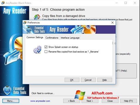 Skærmbillede AnyReader Windows 7