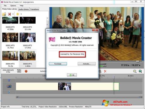 Skærmbillede Bolide Movie Creator Windows 7