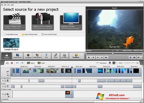 Skærmbillede AVS Video Editor Windows 7