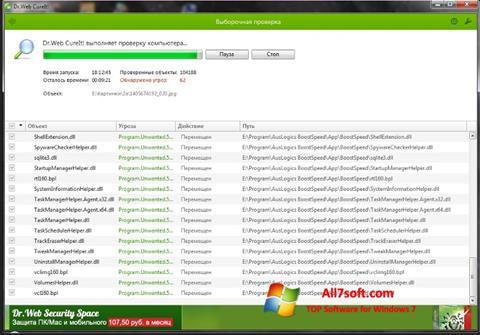 Skærmbillede Dr.Web Windows 7