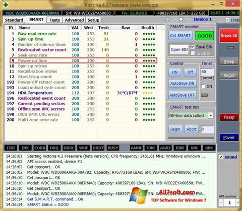 Skærmbillede Victoria Windows 7