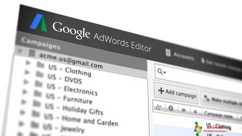 Skærmbillede AdWords Editor Windows 7