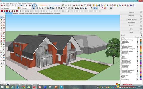 Skærmbillede Google SketchUp Windows 7