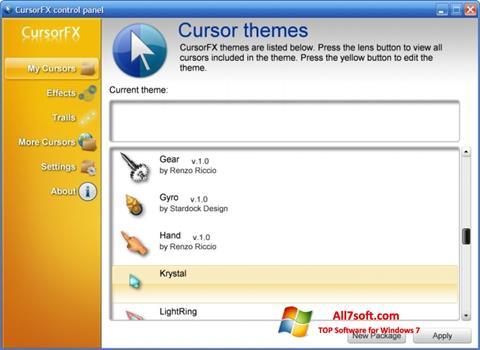 Skærmbillede CursorFX Windows 7