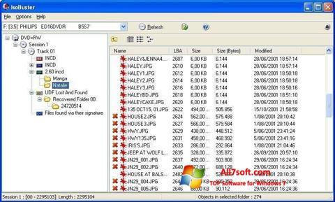 Skærmbillede IsoBuster Windows 7