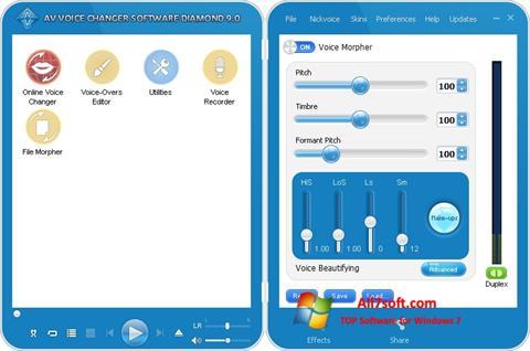 Skærmbillede AV Voice Changer Diamond Windows 7