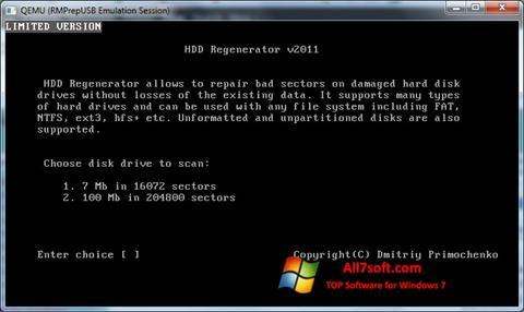 Skærmbillede HDD Regenerator Windows 7