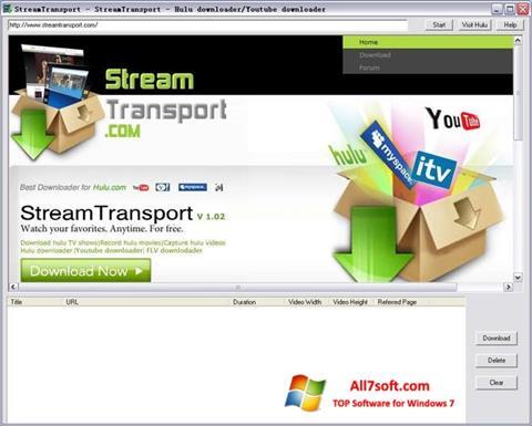 Skærmbillede StreamTransport Windows 7