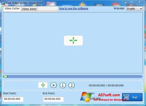 Skærmbillede Free Video Cutter Windows 7