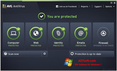 Skærmbillede AVG AntiVirus Pro Windows 7