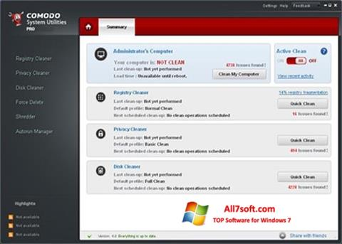 Skærmbillede Comodo System Utilities Windows 7
