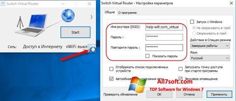 Skærmbillede Switch Virtual Router Windows 7