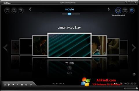 Skærmbillede KMPlayer Windows 7