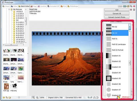 Skærmbillede PhotoScape Windows 7