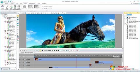 Skærmbillede VSDC Free Video Editor Windows 7
