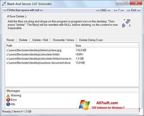 Skærmbillede Blank And Secure Windows 7