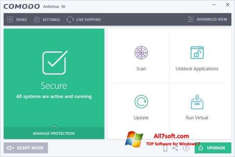 Skærmbillede Comodo Antivirus Windows 7